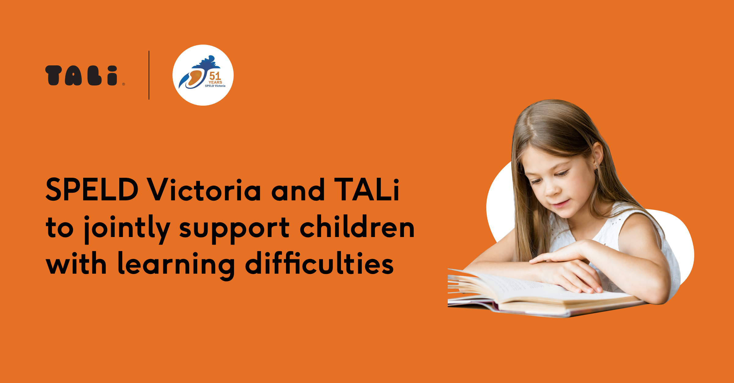SPELD Victoria and TALi to jointly support children with learning difficulties